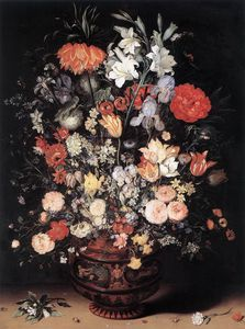 Jan Brueghel The Elder - 花 には 花瓶