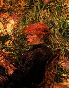 Henri De Toulouse Lautrec - Red-Haired 少女 には 庭