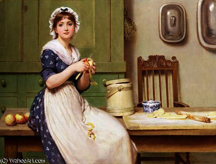 アップルの餃子 バイ George Dunlop Leslie (1835-1921, United Kingdom)