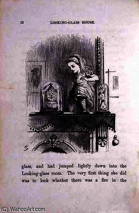 の国のアリス ザー Looking-Glass お部屋 バイ John Tenniel (1820-1914, United Kingdom)