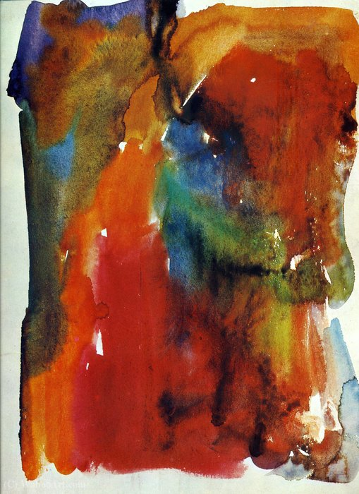 無題(470) バイ Hans Heinrich Hartung (1904-1989, Germany)