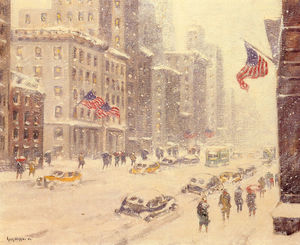 Guy Carleton Wiggins - 冬の日、五番街