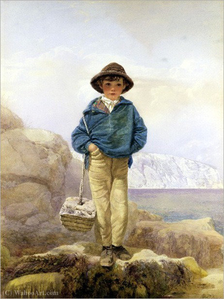 漁師の少年 バイ Alfred Downing Fripp (1822-1895, United Kingdom)
