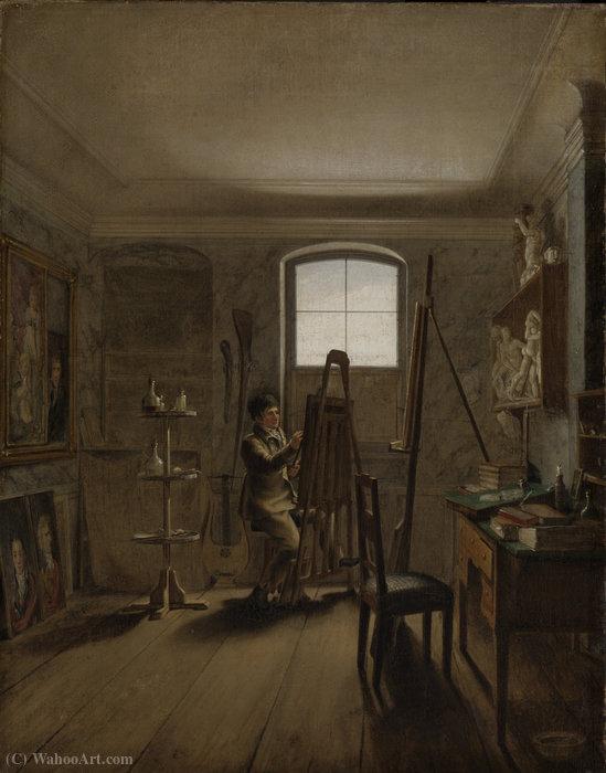 彼のスタジオでの画家ゲルハルト...