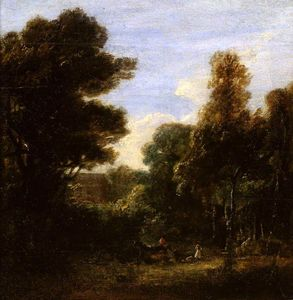 David Wilkie Wynfield - 木質風景