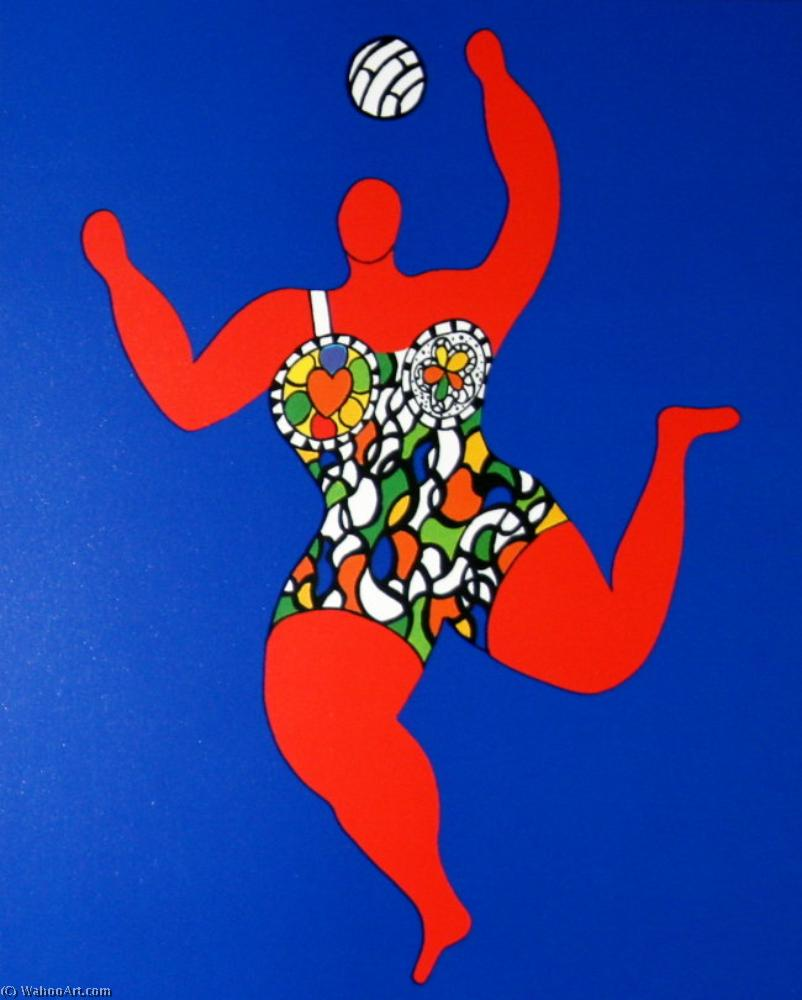 バレーボール バイ Niki De Saint Phalle (1930-2002, France)