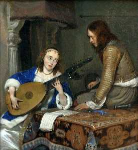 Gerard Ter Borch The Younger - リュートプレーヤー
