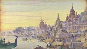 Marianne North - 'Benares . インド . Novr . 1878'