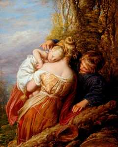 William Mulready The Younger - 兄弟 と 妹