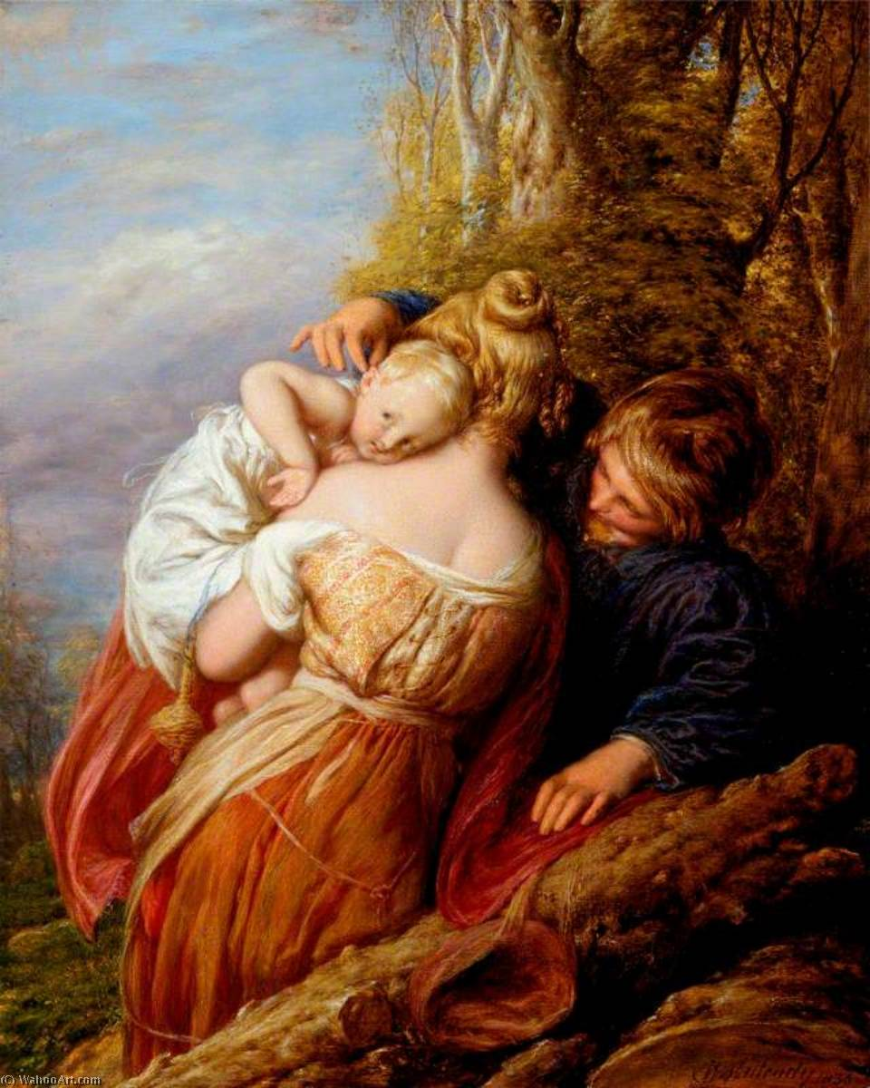 兄弟 と 妹, 1836 バイ William Mulready The Younger (1786-1863, Ireland) | 傑作コピー | WahooArt.com