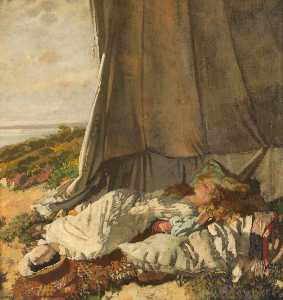 William Newenham Montague Orpen - 午後 眠る