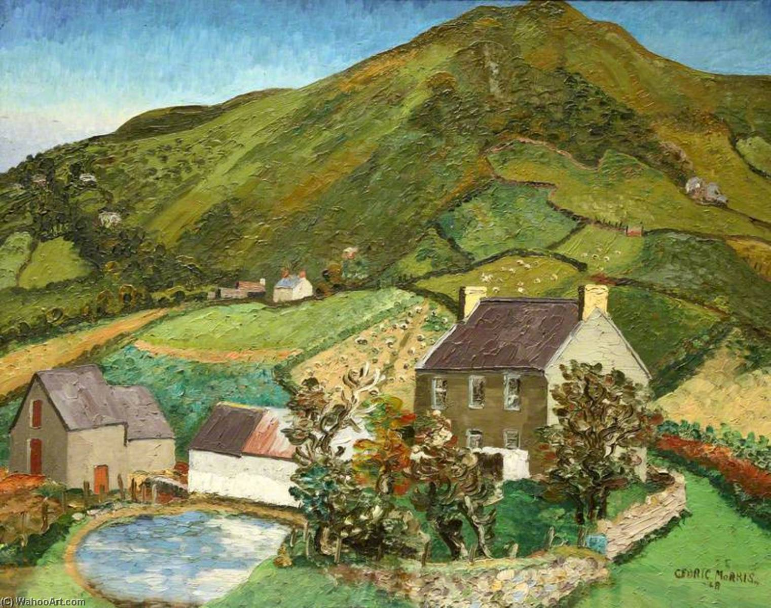 Llanmadoc 丘 , ガウアー, 1928 バイ Cedric Lockwood Morris (1889-1982, United Kingdom) | WahooArt.com