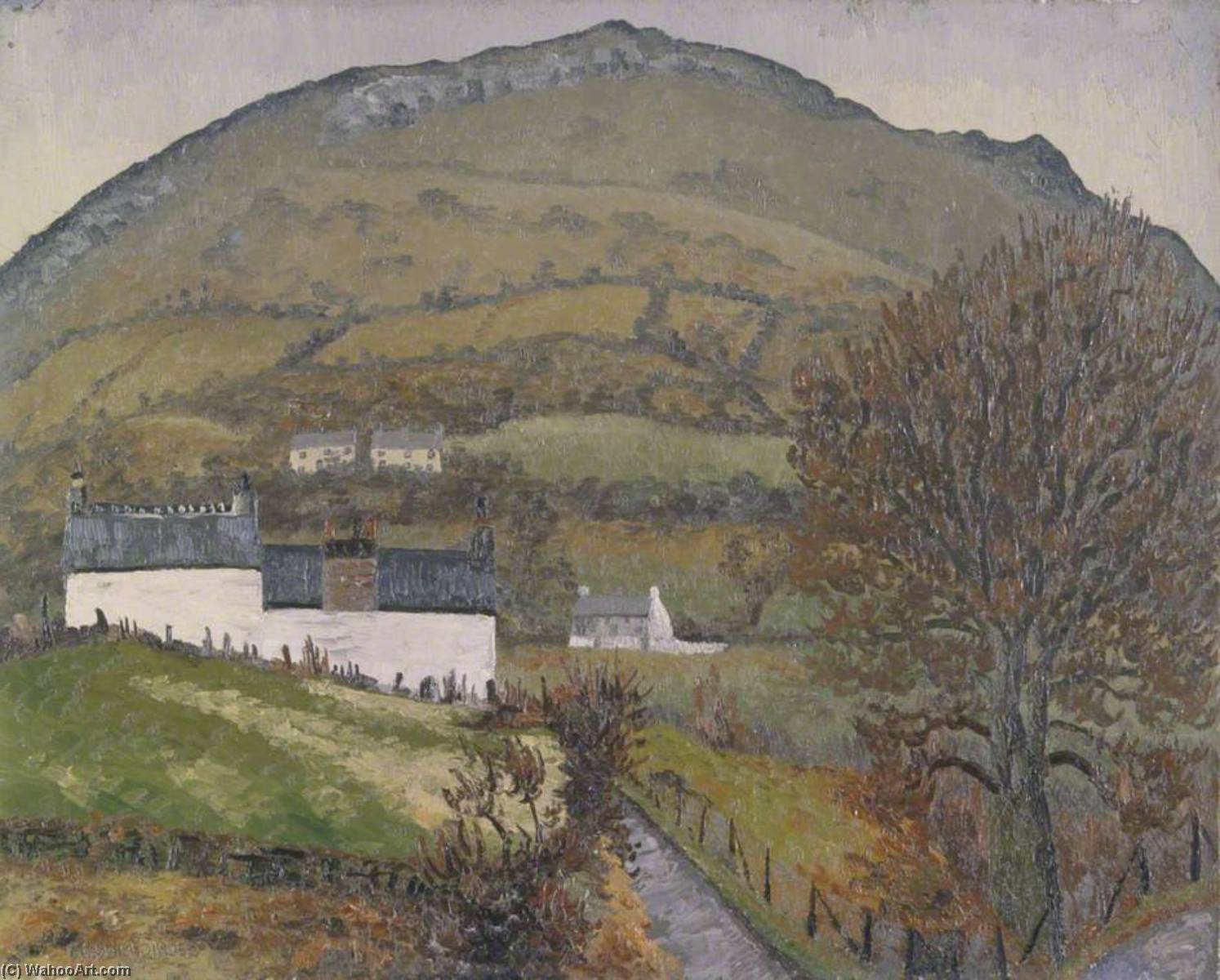 Crickhowell, キャンバス年石油 バイ Cedric Lockwood Morris (1889-1982, United Kingdom)