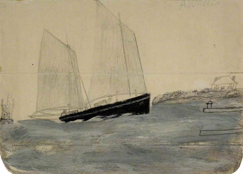 二つ マストの  ヨール  バイ Alfred Wallis (1855-1942, United Kingdom) | WahooArt.com