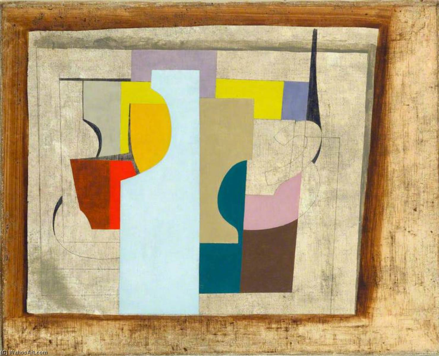 1946  まだ  人生 , ペン バイ Ben Nicholson (1894-1982, United Kingdom)