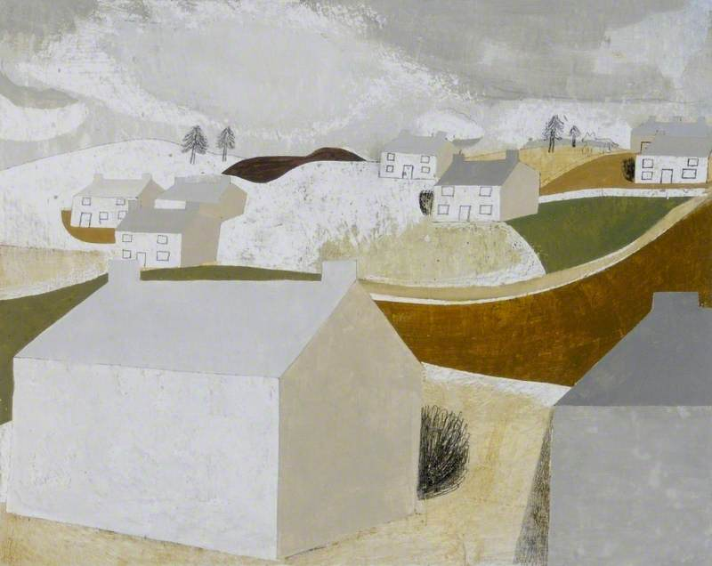 1939–41 ( 冬 風景 Halsetown ), ペン バイ Ben Nicholson (1894-1982, United Kingdom)