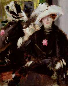 Francis Campbell Boileau Cadell - フェザーハット