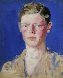 Francis Campbell Boileau Cadell - の肖像画 若い 男