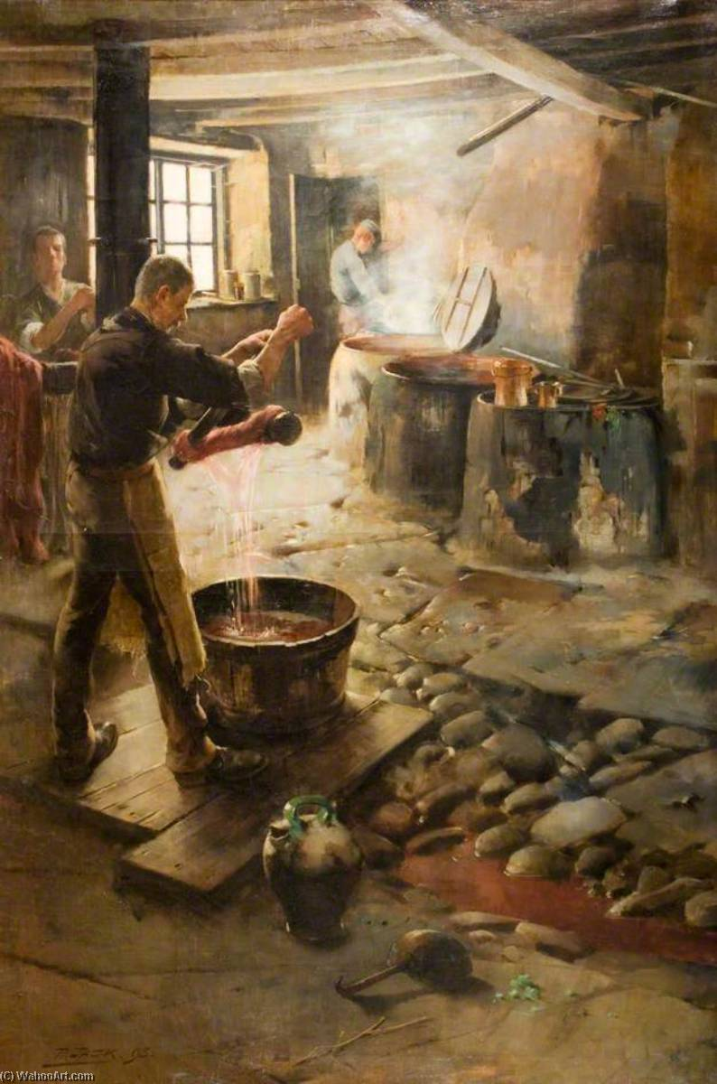 ザー スウェーデンの Dyehouse, 1893 バイ Richard Jack (1866-1952, United Kingdom) | WahooArt.com