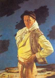 William Newenham Montague Orpen - ザー 男 から  アラン