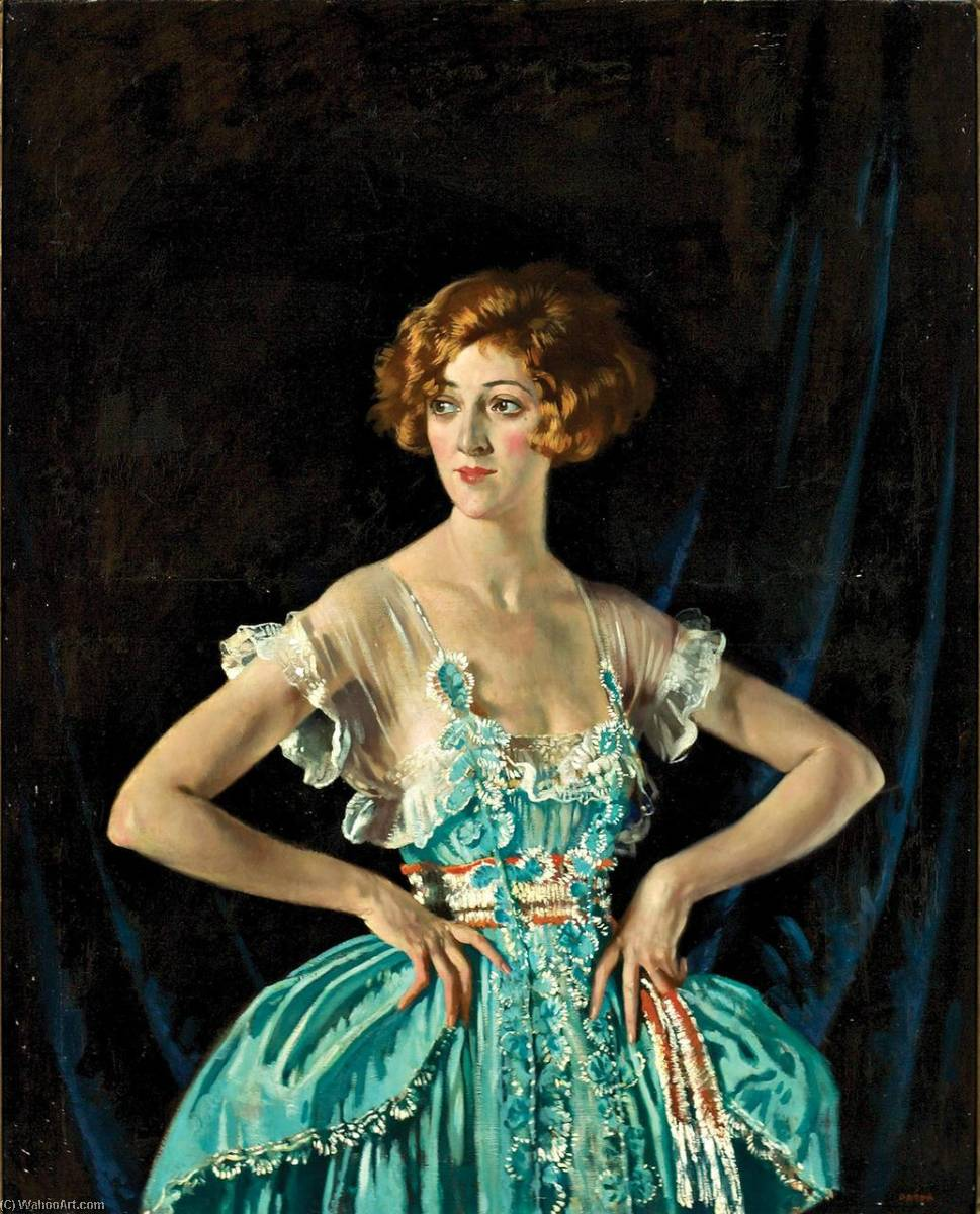 夫人 ルビー  メルヴィル , 1920 バイ William Newenham Montague Orpen (1878-1931, Ireland)