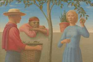 George Clair Tooker - 庭の塀