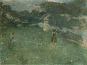 Thomas Wilmer Dewing - 隠者ツグミ