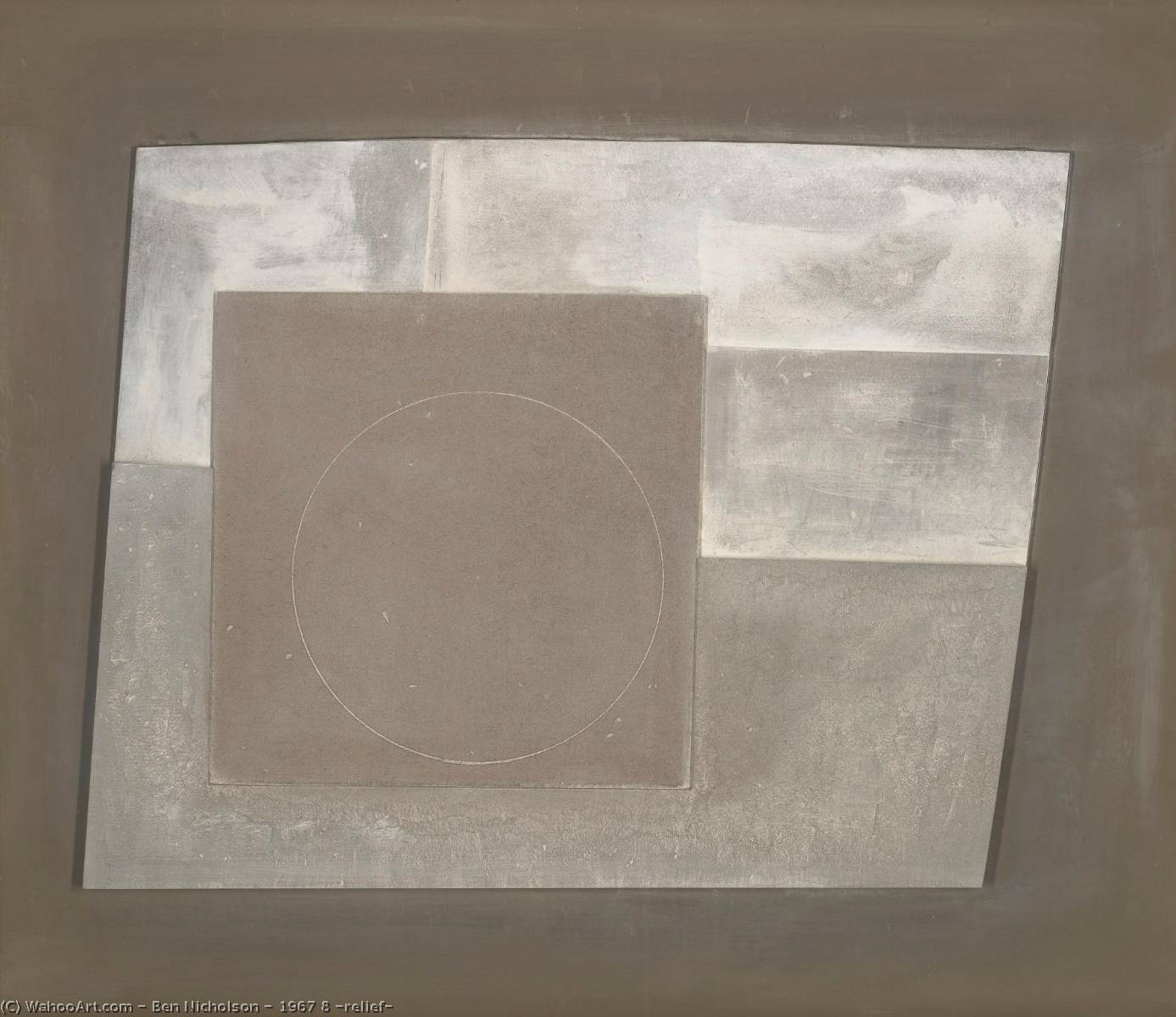 1967 8  救済 , 彫 バイ Ben Nicholson (1894-1982, United Kingdom)