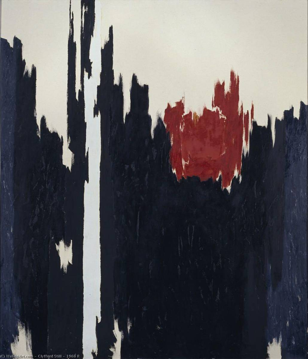 1960 R, 1960 バイ Clyfford Still (1904-1980, United States) | 「額入りプリント | WahooArt.com